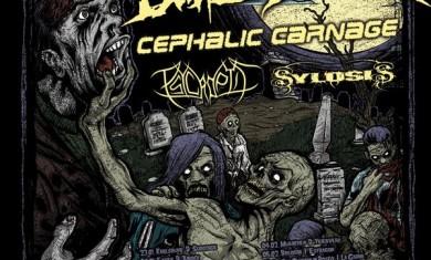 THE BLACK DAHLIA MURDER + CEPHALIC CARNAGE + PSYCROPTIC - Concerto - 2009