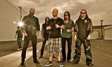 Five Finger Death Punch - band promo shoot - 2011
