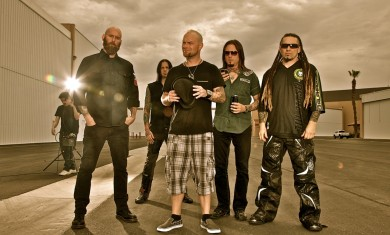 Five Finger Death Punch - band promo shoot - 2011