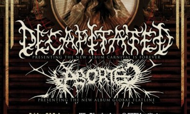 decapitated - aborted - tour locandina - 2012