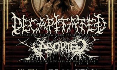 decapitated - aborted - tour locandina - 2012