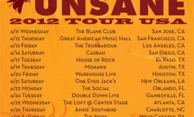 melvins - unsane - tour flyer - 2012