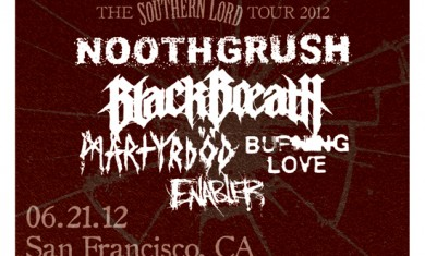 southern lord tour - flyer - 2012