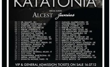 katatonia - tour - 2012