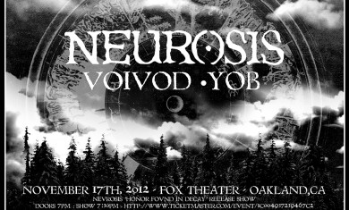 Neurosis voivod yob - flyer - 2012