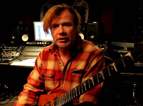megadeth - dave mustaine in studio - 2012