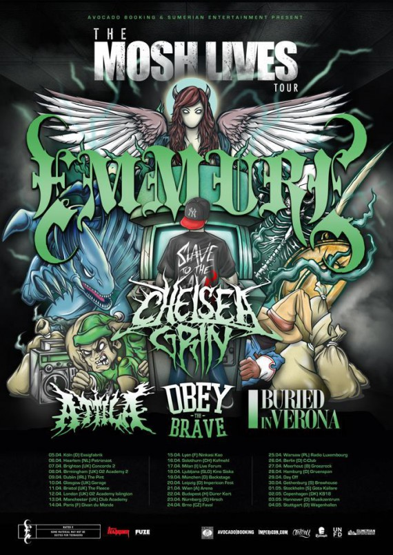 emmure - mosh lives tour - 2013