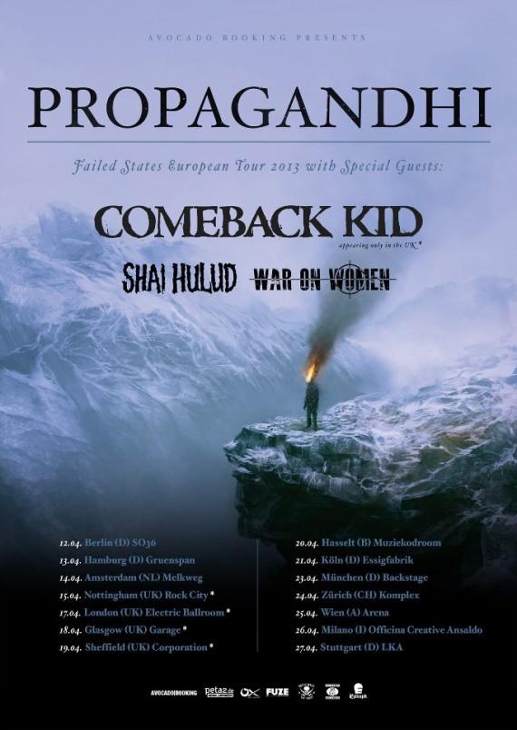 Propagandhi - Shai Hulud - tour europeo - 2013