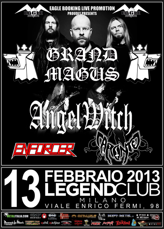 grand magus e angel witch - locandina definitiva milano - 2013