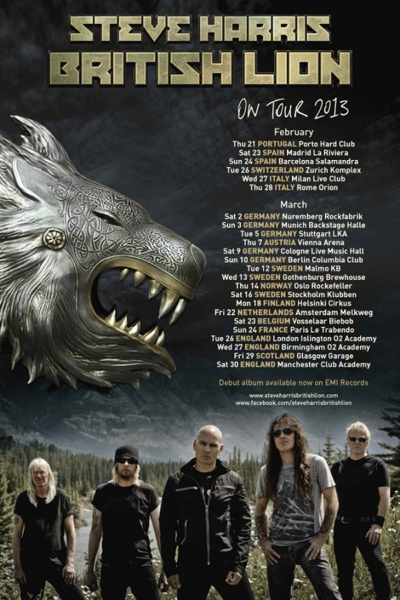 steve harris british lion - tour 2013