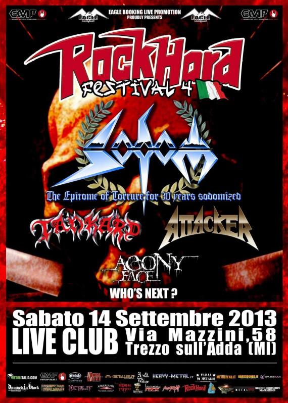 Rock Hard festival italia 2013 primo annuncio