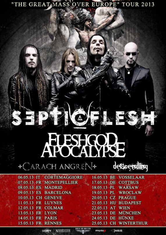 Septicflesh - flyer tour - 2013
