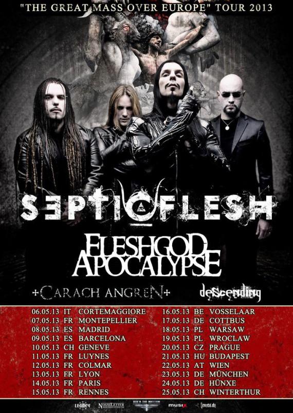Septicflesh - flyer tour - 2013