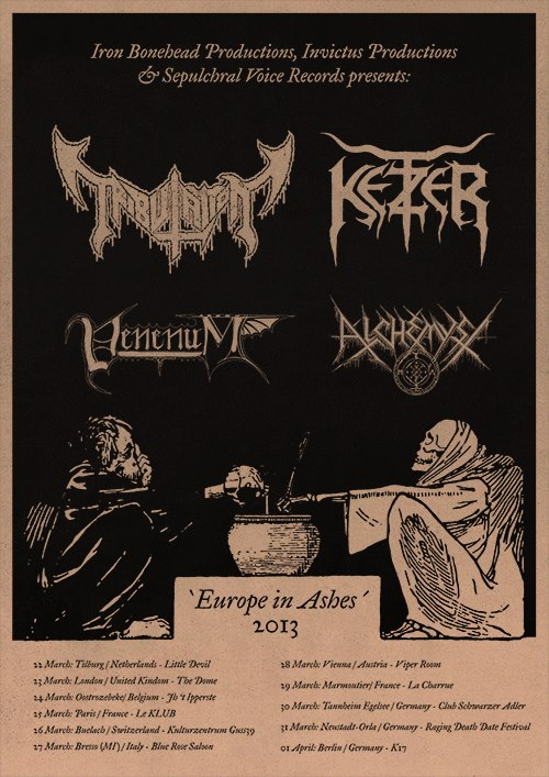 Tribulation - flyer tour - 2013