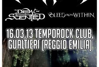 testament + dew-scented - tempo rock locandina - 2013