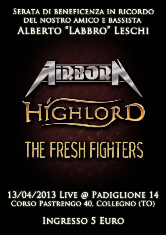 airborn - locandina 13 aprile - 2013