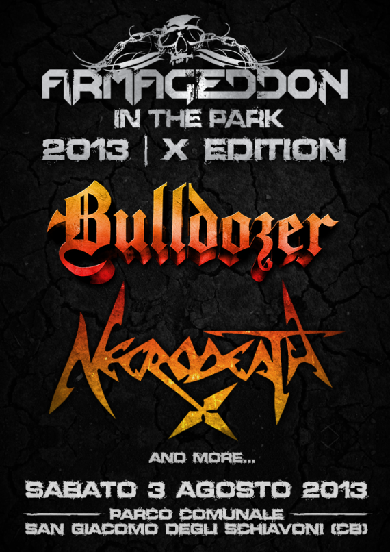 armageddon in the park - locandina - 2013