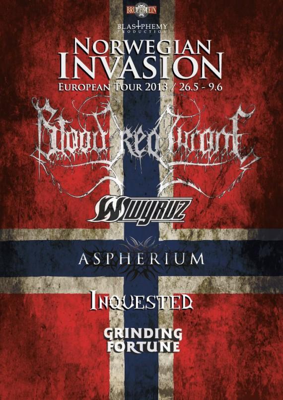 blood red throne - european invasion tour - 2013