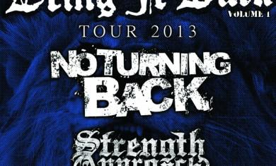 no turning back - locandina tour - 2013