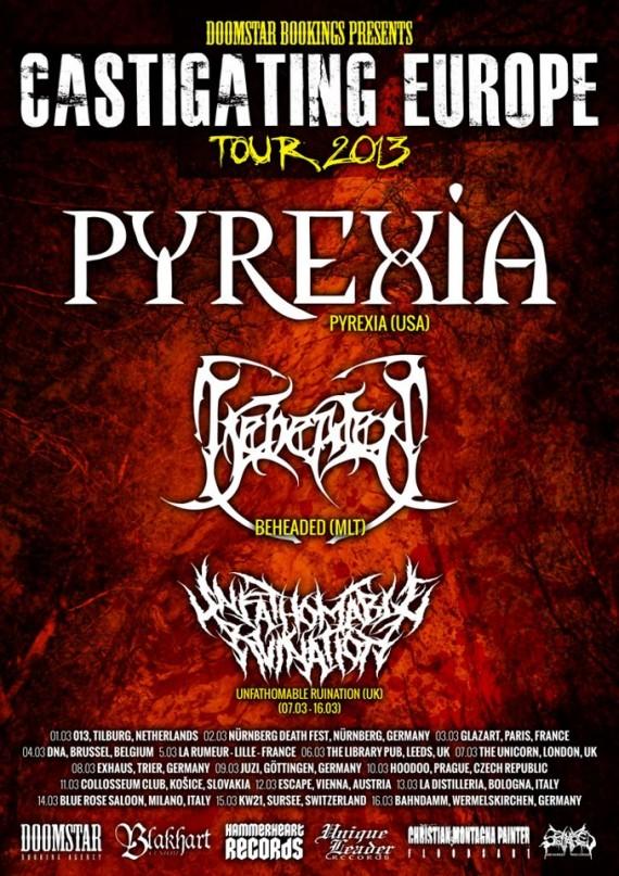 pyrexia - locandina tour - 2013