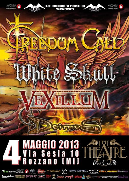 Freedom Call - white skull - plocandina milano - 2013