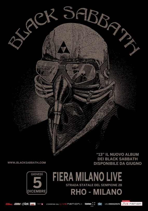 black sabbath - cartellone milano - 2013
