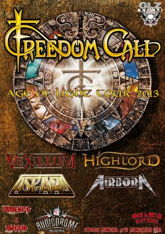 freedom call - locandina torino - 2013