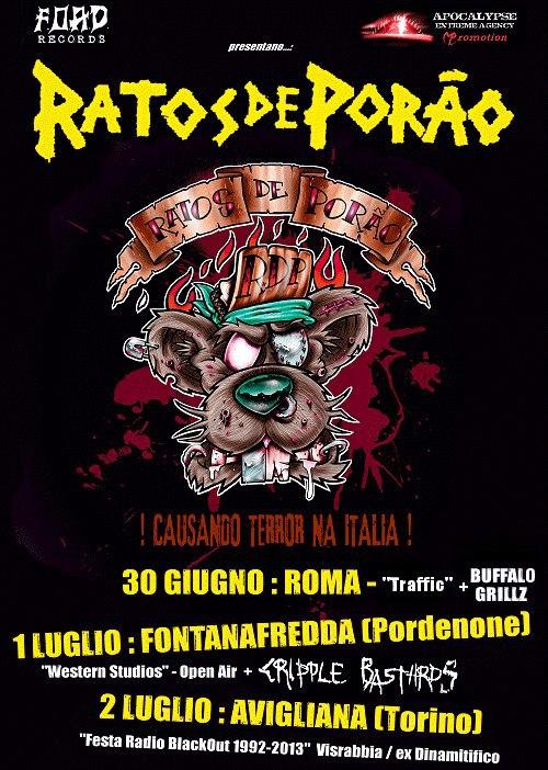 ratos de porao - tour - 2013
