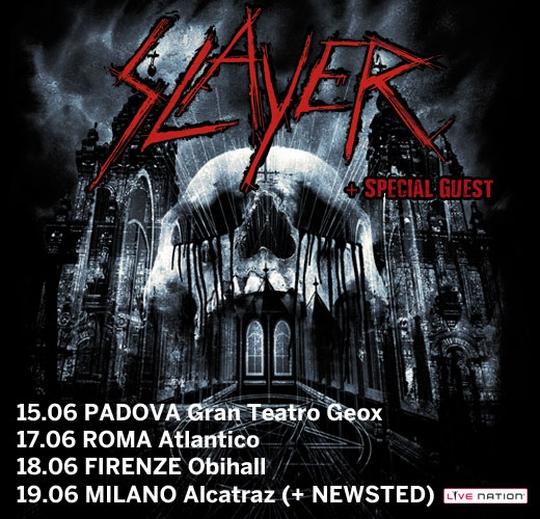 slayer - newsletter tour - 2013