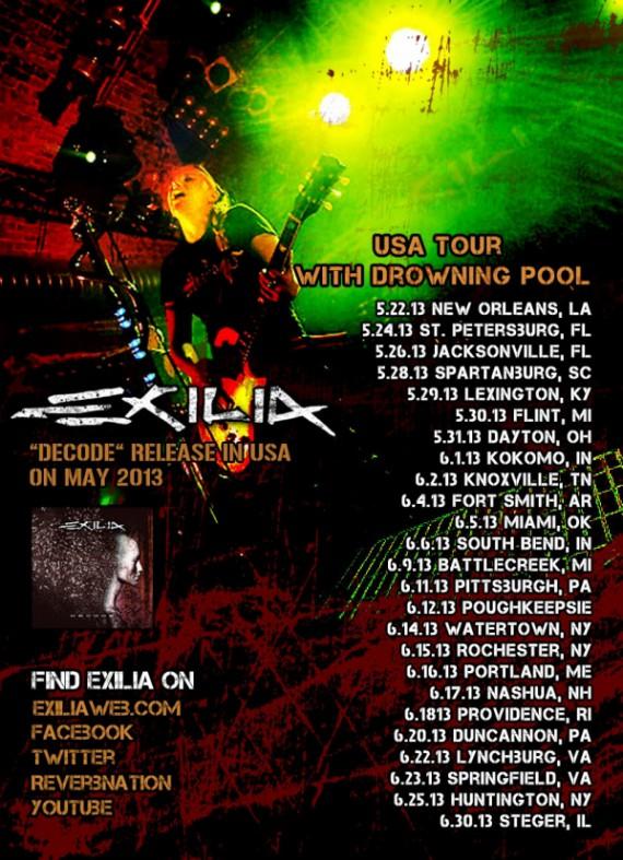 exilia - locandina us tour - 2013