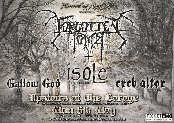 forgotten tomb - locandina londra - 2013