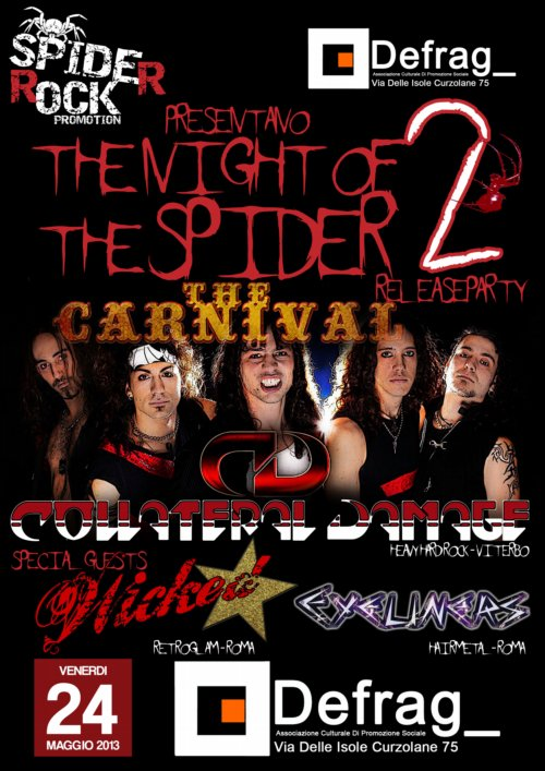 night of the spider - maggio - locandina - 2013