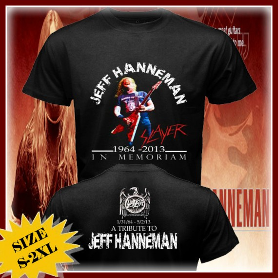 slayer - jeff hanneman maglia tributo con gary holt - 2013