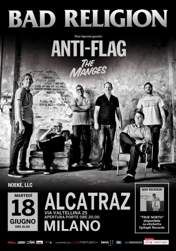 BAD RELIGION- Flyer Alcatraz - 2013