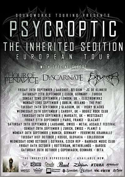 Psycroptic - Tour 2013 - flyer