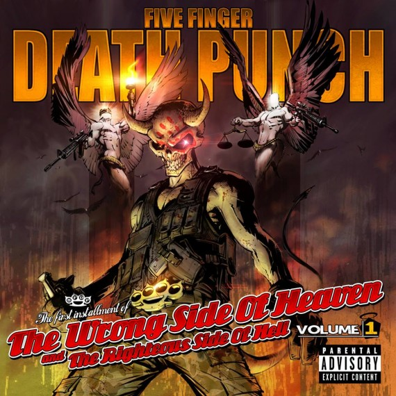 FIVE FINGER DEATH PUNCH - 'The Wrong Side Of Heaven' - 2013