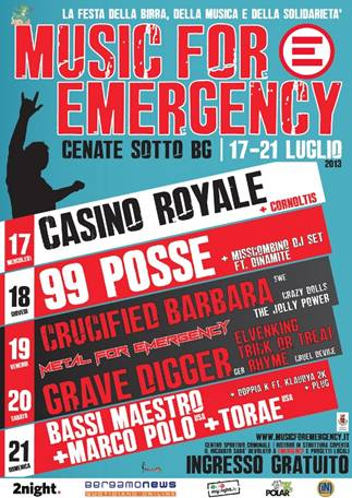 music for emergency 2013