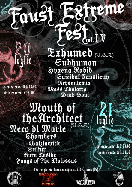 Faust Extreme Fest - Flyer - 2013