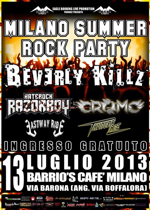 Milano summer rock party promo 2013
