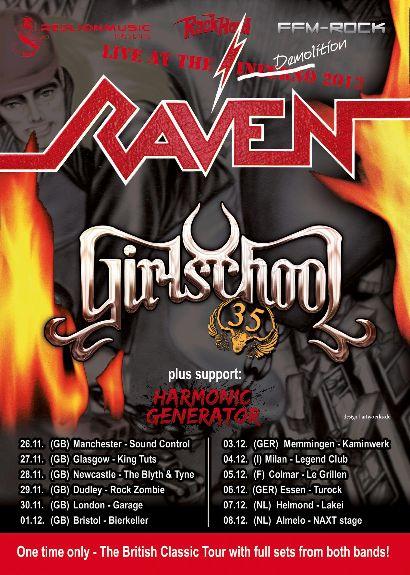 raven girlschool tour 2013