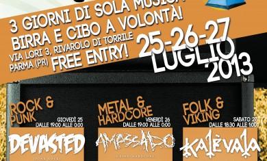 rivarolo music camp - locandina - 2013