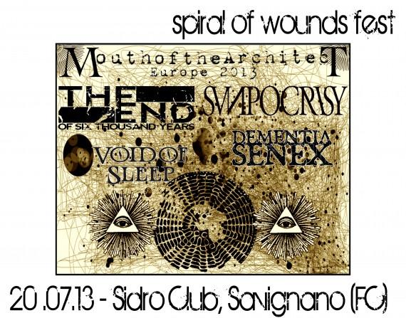 spiral of wounds fest - locandina - 2013