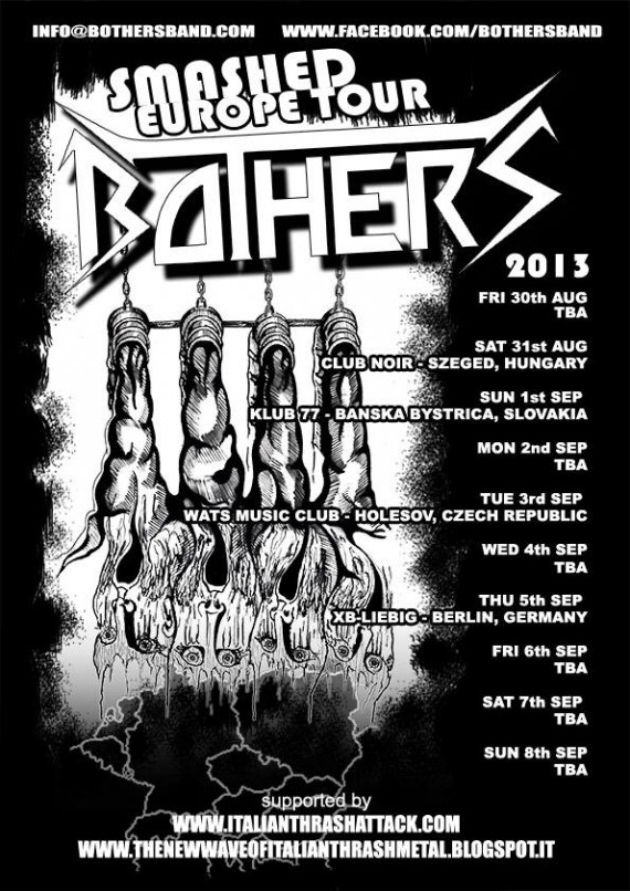 Bothers - Smashed Europe Tour - flyer 2013