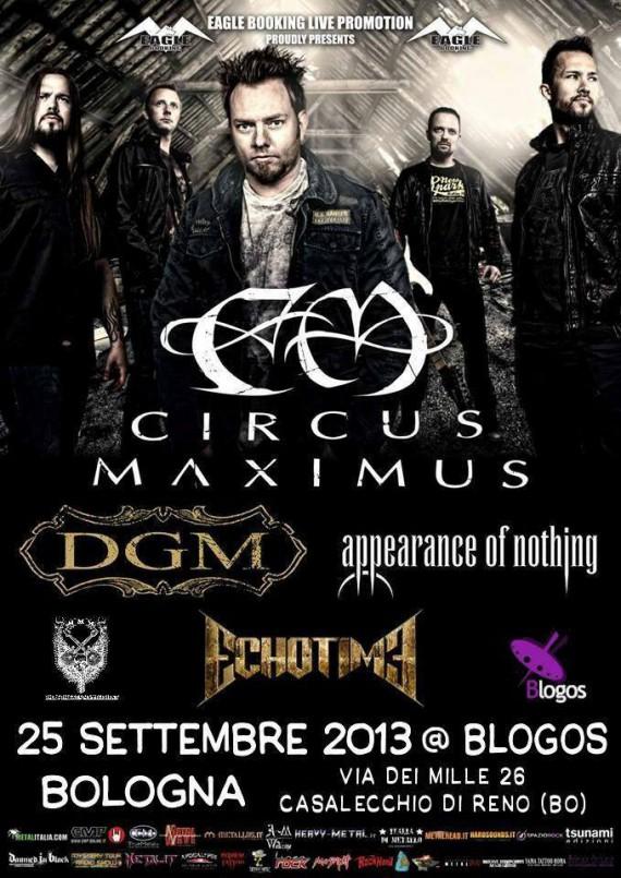 Circus Maximus Bologna - locandina - 2013