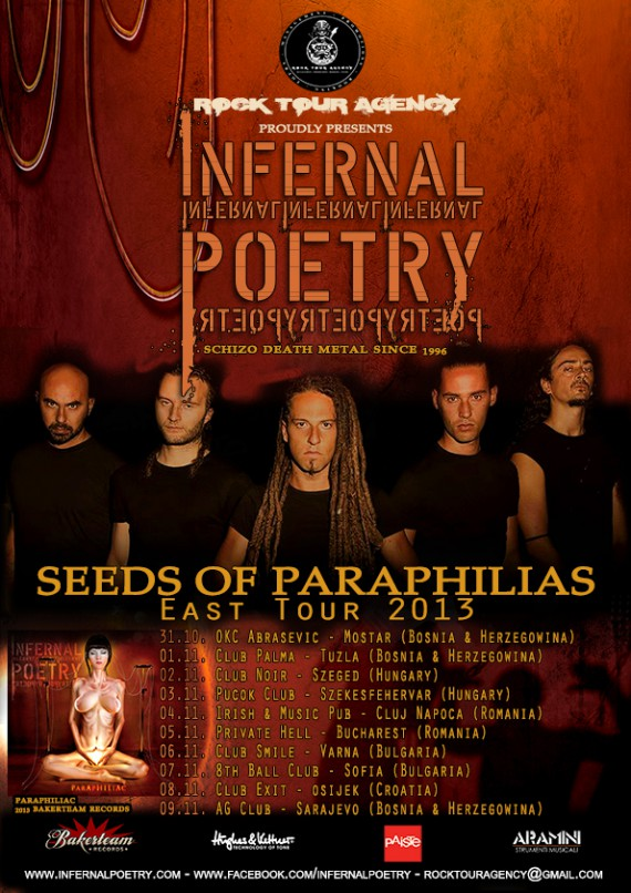 Infernal Poetry - Europe tour flyer - 2013