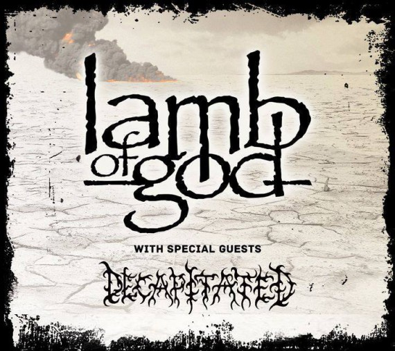 Lamb of God + Decapitated - flyer tour 2014