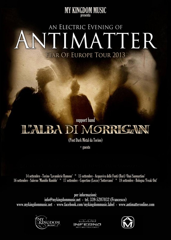 antimatter - locandina tour - 2013