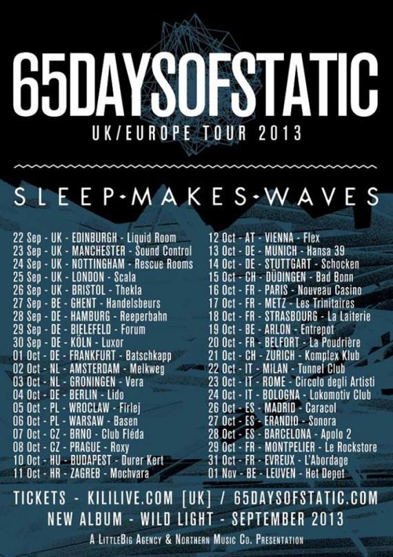 65daysofstatic - tour 2013