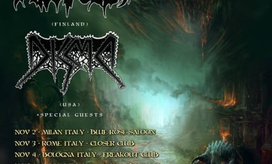 Convulse, Disma - euro tour - flyer 2013