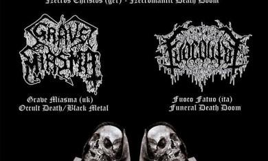 Necros Christos, Grave Miasma - flyer 2013
